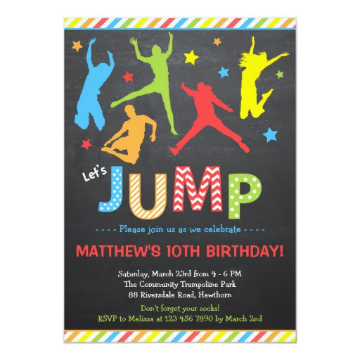 Best ideas about Trampoline Birthday Party Invitations . Save or Pin Jump Invitation Trampoline Birthday Invitation Now.