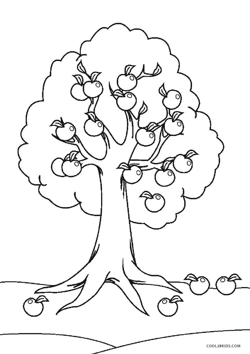 Best ideas about Tree Coloring Sheets For Kids . Save or Pin Free Printable Tree Coloring Pages For Kids Now.