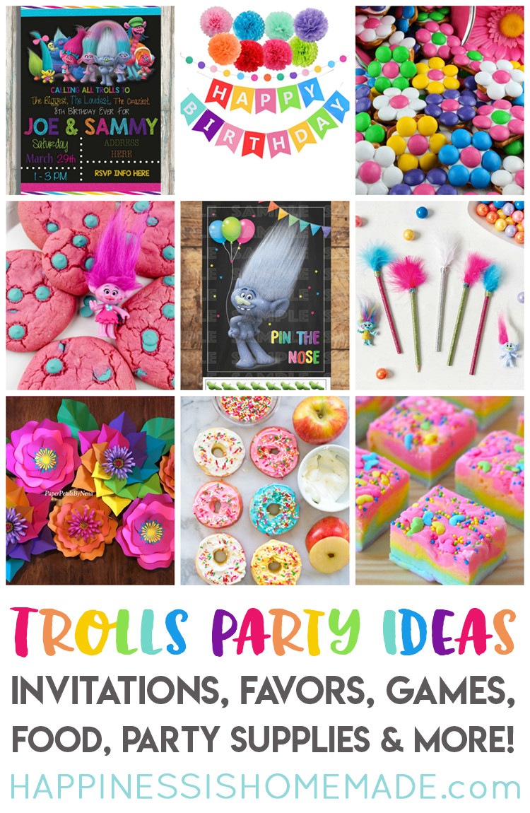 Best ideas about Troll Birthday Party . Save or Pin The Best Trolls Birthday Party Ideas Happiness is Homemade Now.
