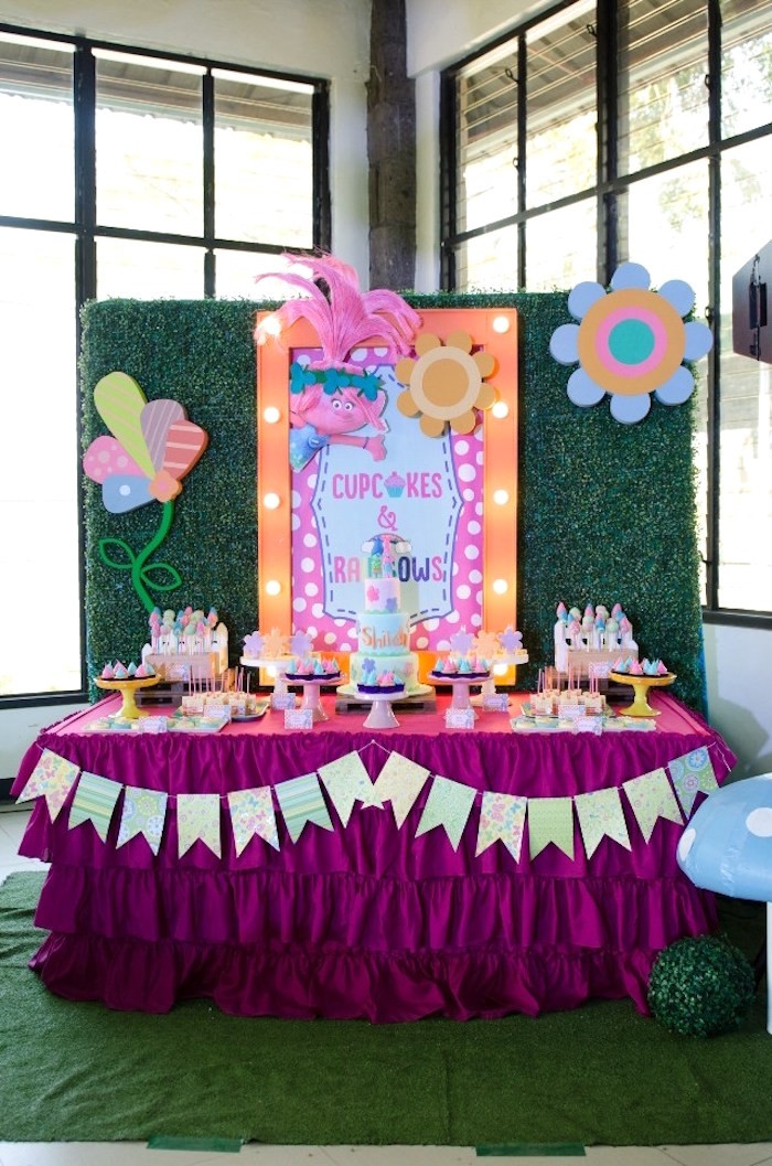 Best ideas about Trolls Birthday Decorations . Save or Pin Kara s Party Ideas Colorful Trolls Birthday Party Now.
