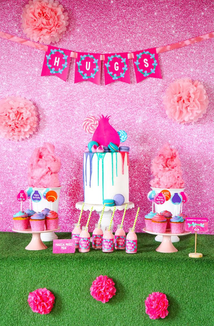 Best ideas about Trolls Birthday Decorations . Save or Pin Kara s Party Ideas Trolls Birthday Party with FREE Now.