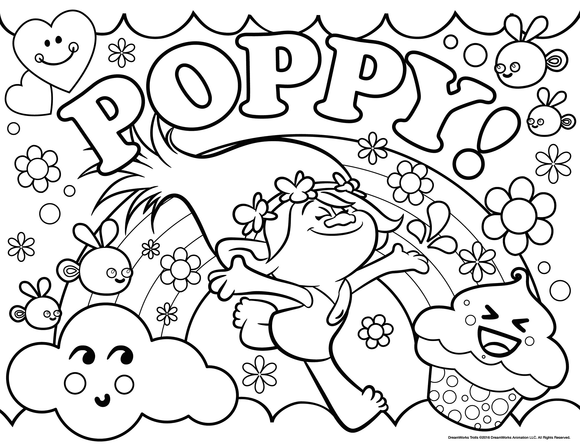 Best ideas about Trolls Free Printable Coloring Sheets . Save or Pin Trolls Movie Coloring Pages Best Coloring Pages For Kids Now.