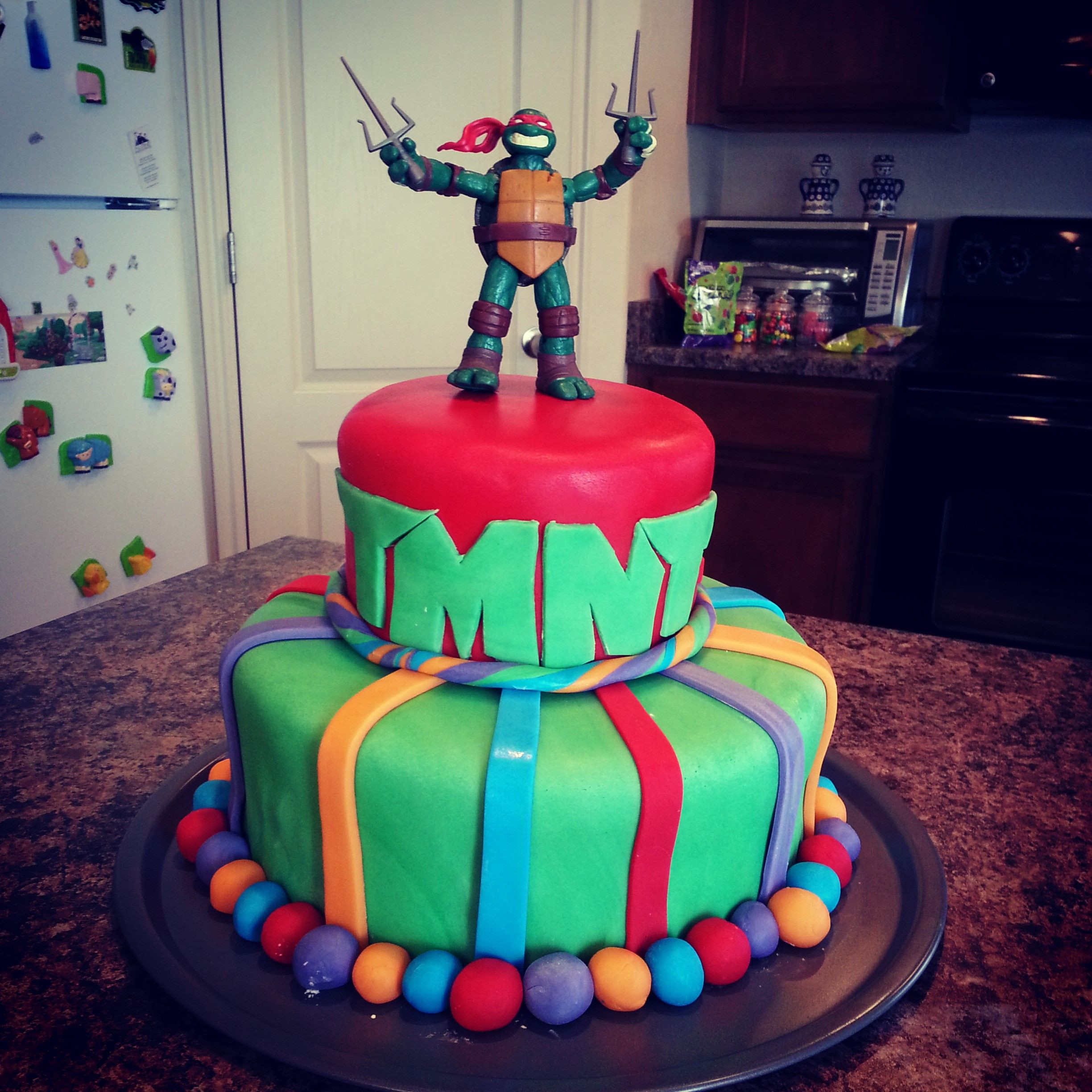 Best ideas about Turtle Birthday Cake . Save or Pin Teenage Mutant Ninja Turtle Birthday Cake fondant Now.