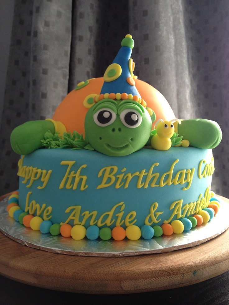 Best ideas about Turtle Birthday Cake . Save or Pin Turtle birthday cake My cakes Pinterest Now.