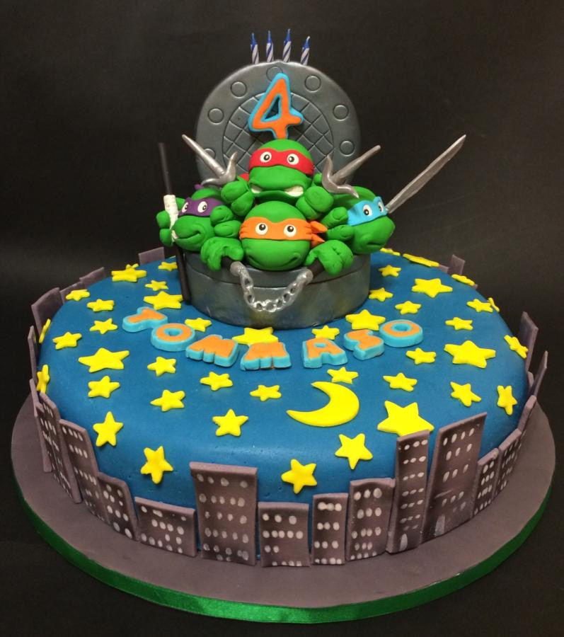 Best ideas about Turtle Birthday Cake . Save or Pin Ninja Turtles Birthday Cake cake by Davide Minetti Now.