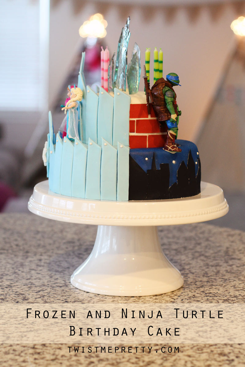 Best ideas about Turtle Birthday Cake . Save or Pin Frozen and Ninja Turtle Birthday Cake Twist Me Pretty Now.