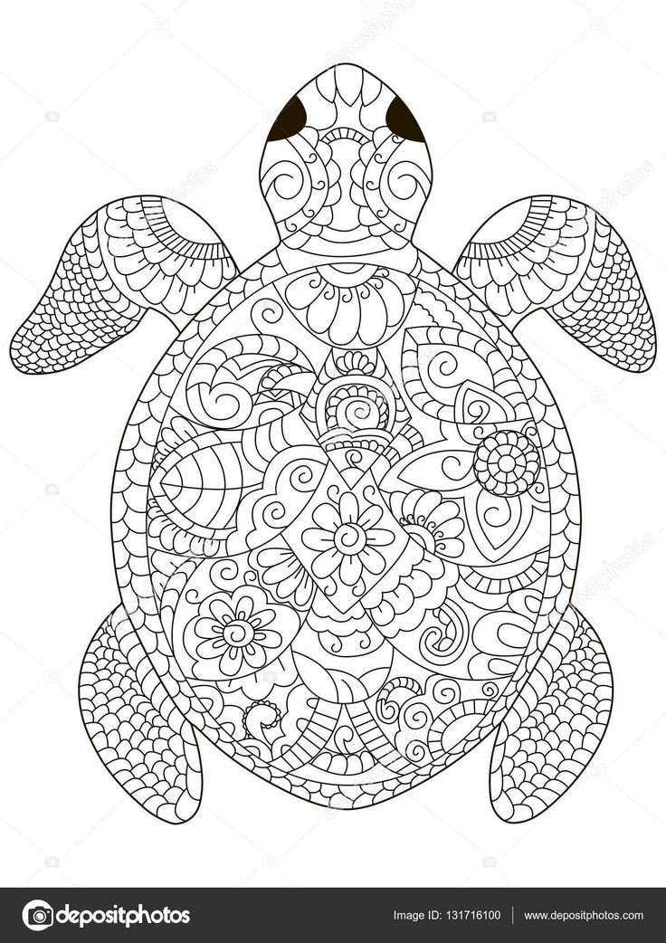 Best ideas about Turtle Coloring Pages For Adults . Save or Pin 237 best coloring turtle penguin images on Pinterest Now.