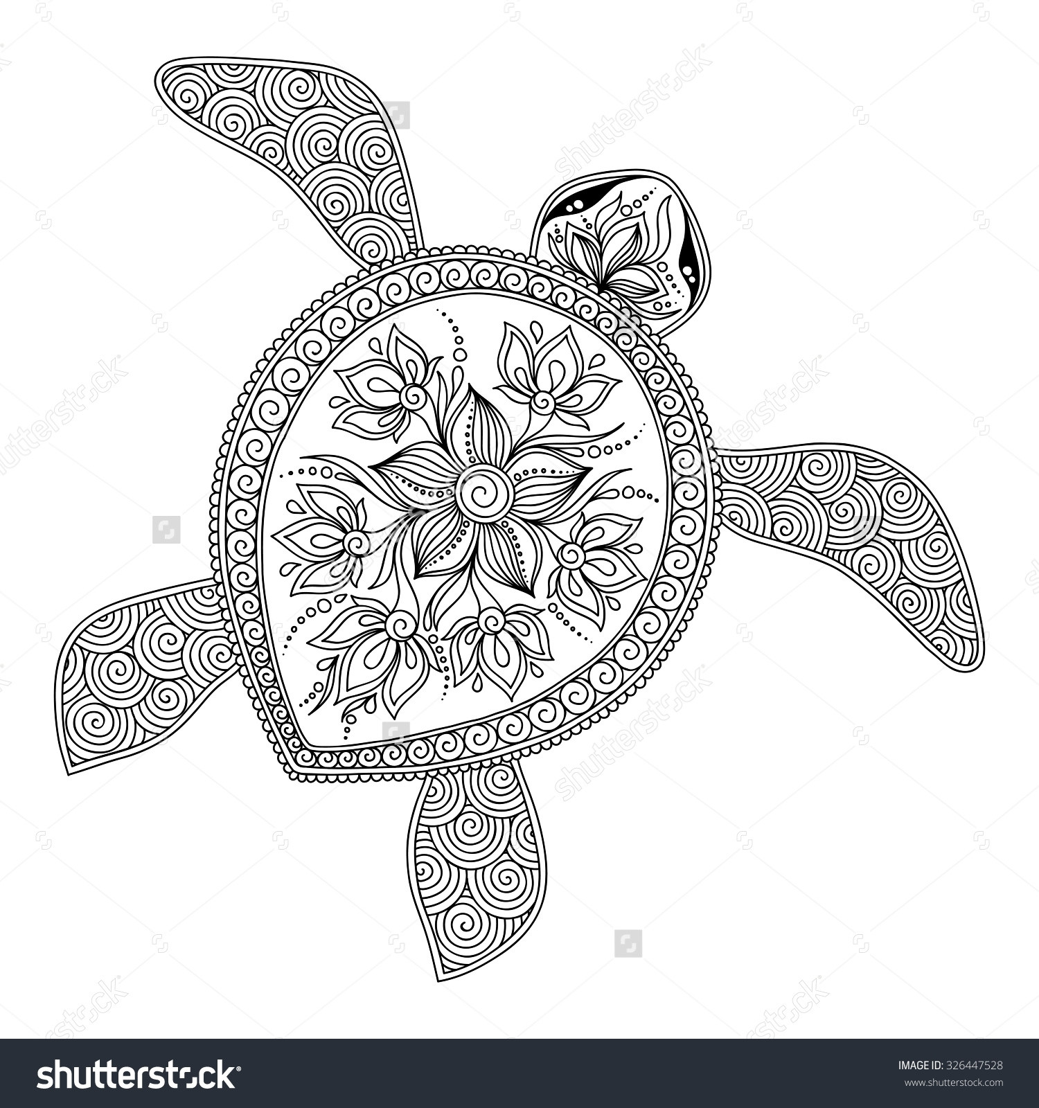 Best ideas about Turtle Coloring Pages For Adults . Save or Pin Sea Turtle Adult Coloring Pages Free Now.