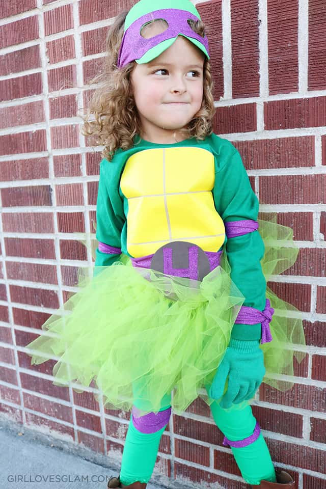 Best ideas about Turtle Costume DIY . Save or Pin DIY No Sew Ninja Turtle Costume for Girls Girl Loves Glam Now.