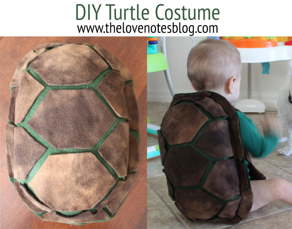 Best ideas about Turtle Costume DIY . Save or Pin DIY BABY TURTLE COSTUME – The Love Notes Blog Now.