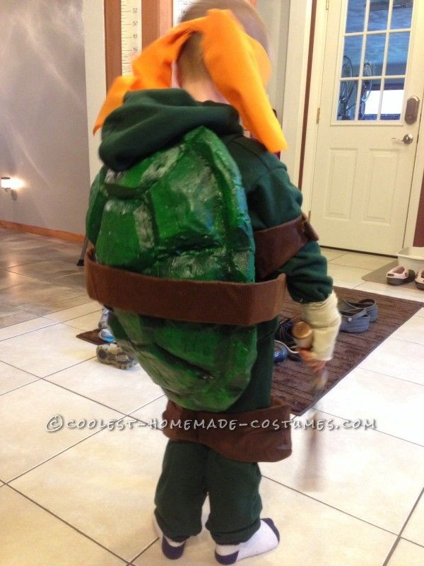 Best ideas about Turtle Costume DIY . Save or Pin Cool Homemade Ninja Turtles Costumes for Two Children Now.