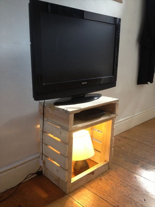 Best ideas about Tv Stand DIY . Save or Pin Seven Ravishing Plans on Pallet TV Stand Now.