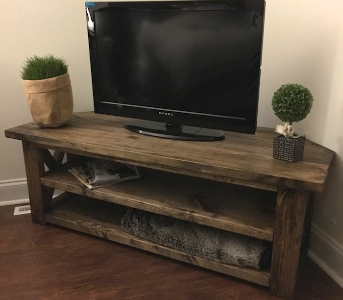 Best ideas about Tv Stand DIY . Save or Pin DIY Corner Media Center Plans Rogue Engineer Now.