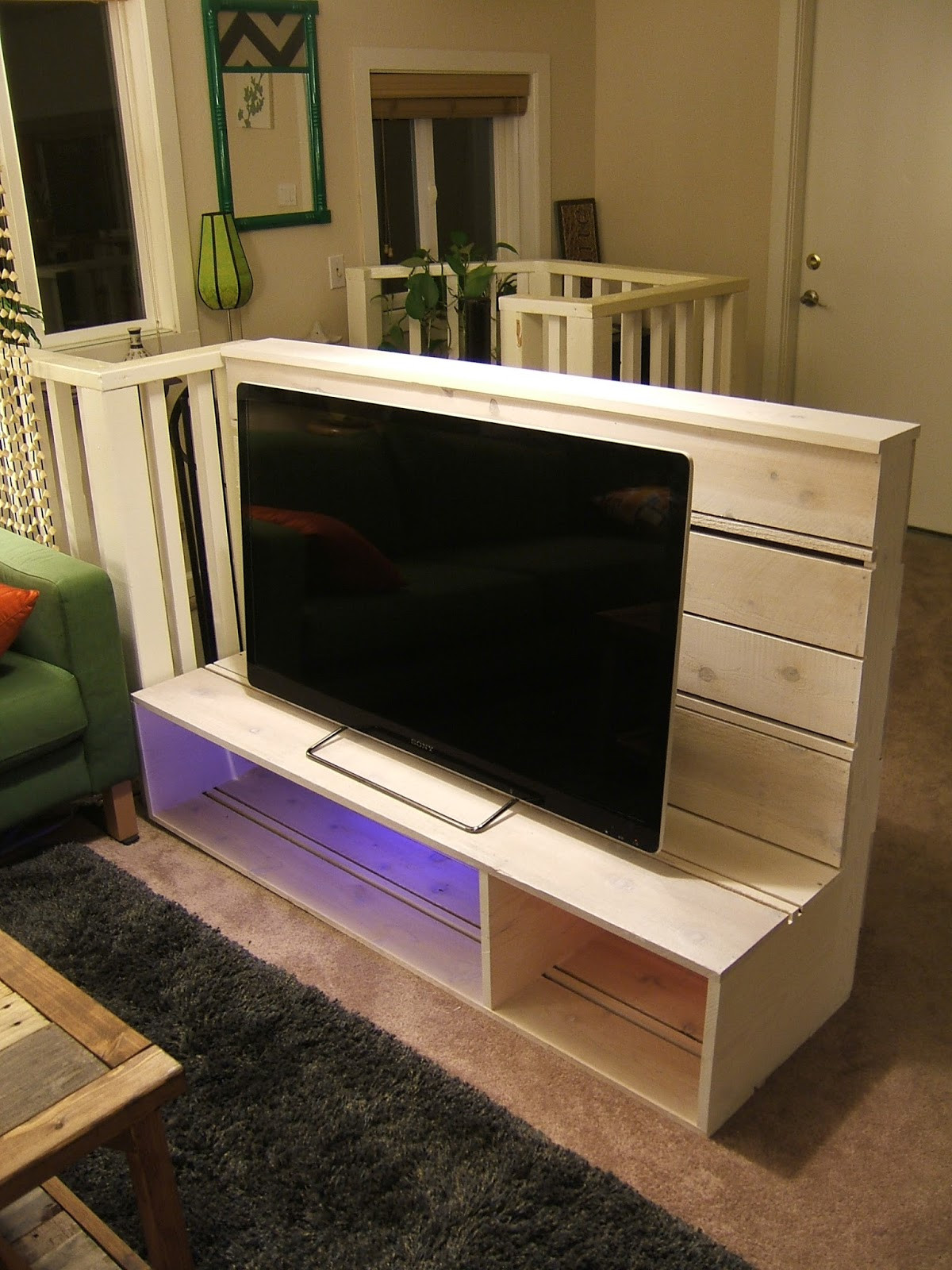 Best ideas about Tv Stand DIY . Save or Pin floors hello movie theater haha ok some night time light Now.