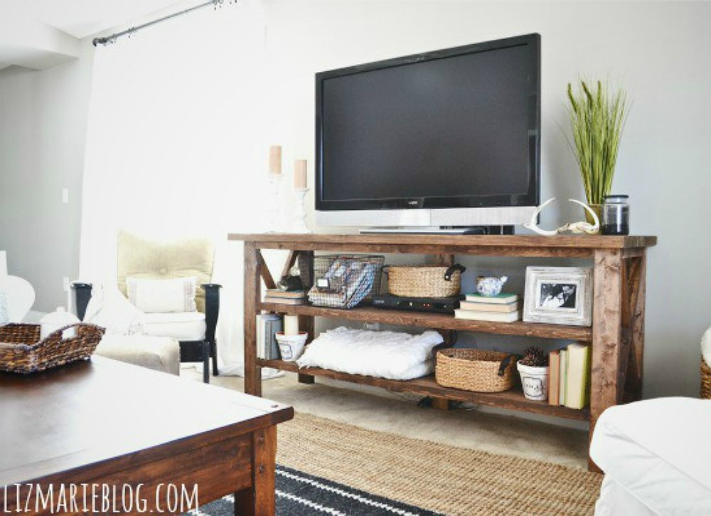 Best ideas about Tv Stand DIY . Save or Pin DIY TV Stand 10 Doable Designs Bob Vila Now.