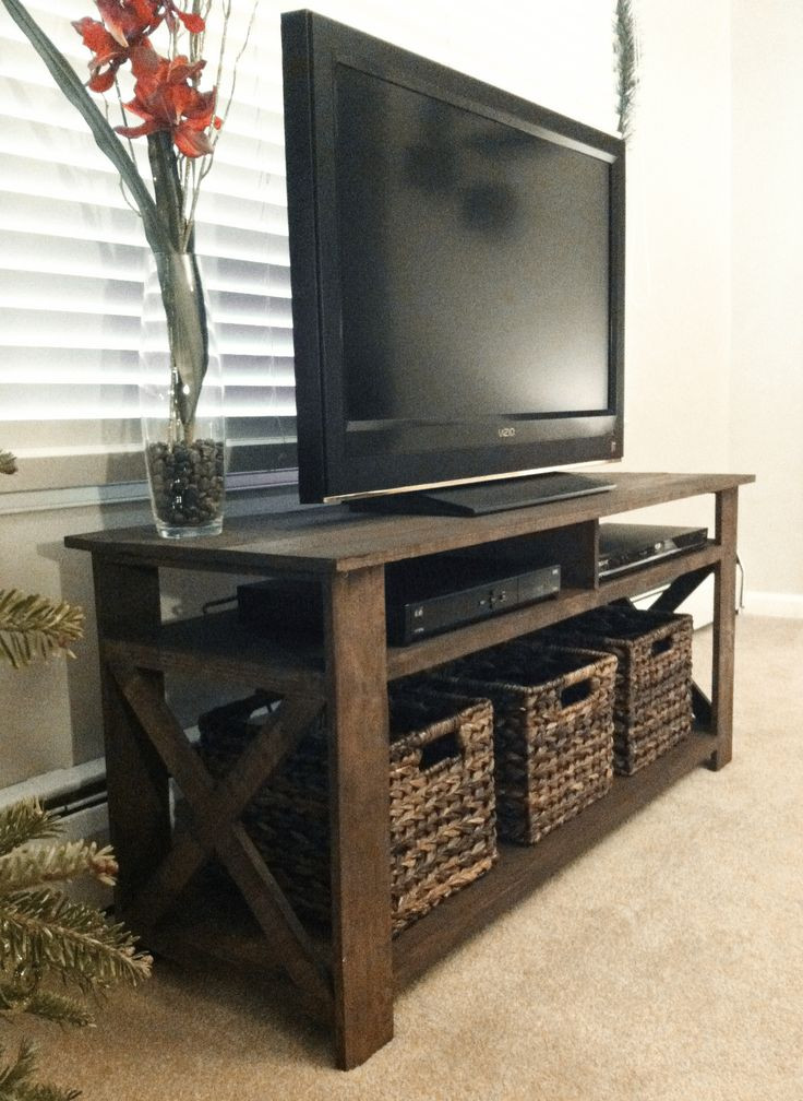 Best ideas about Tv Stand DIY . Save or Pin Rustic Wood Tv Stand WoodWorking Projects & Plans Now.