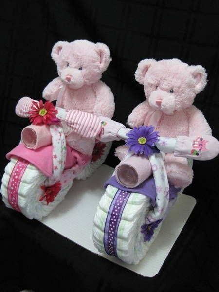 Best ideas about Twin Baby Gift Ideas . Save or Pin Twin Girl Diaper Cake Ideas 8483 Now.