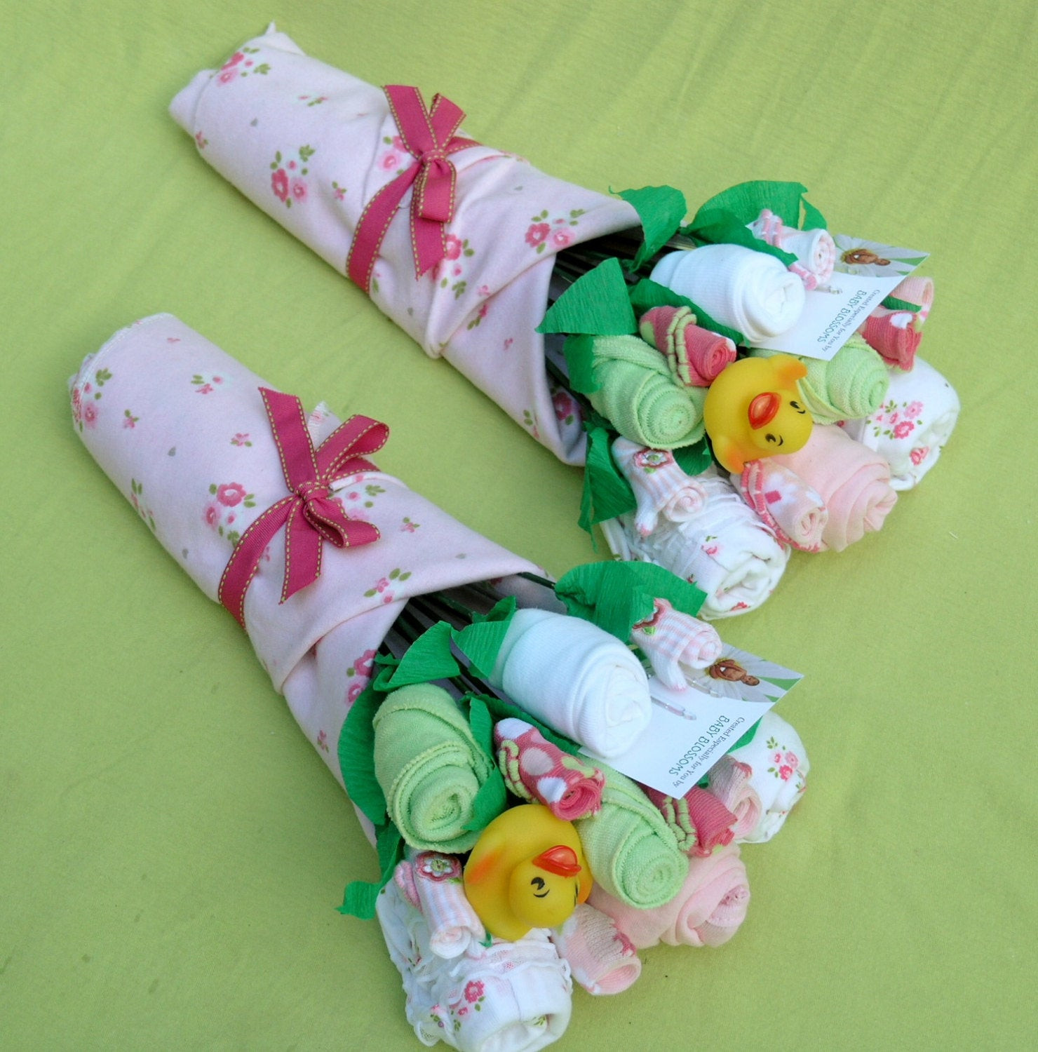 Best ideas about Twin Baby Gift Ideas . Save or Pin Girl Twins Baby Bouquet Twin Baby Girls Baby by babyblossomco Now.