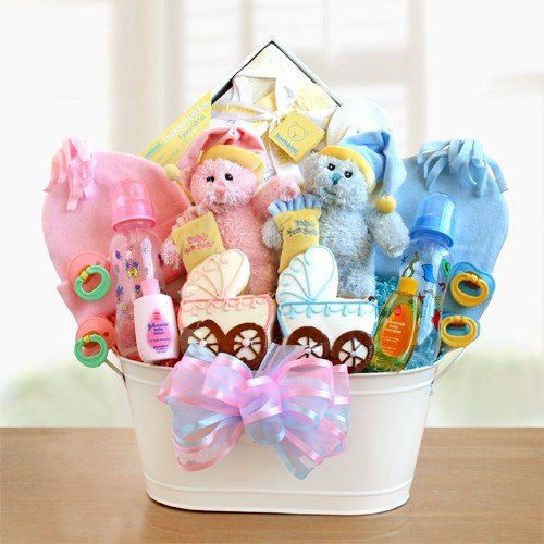 Best ideas about Twin Baby Gift Ideas . Save or Pin Wel e Home Twins Classic Gift Basket For Baby Twins Now.