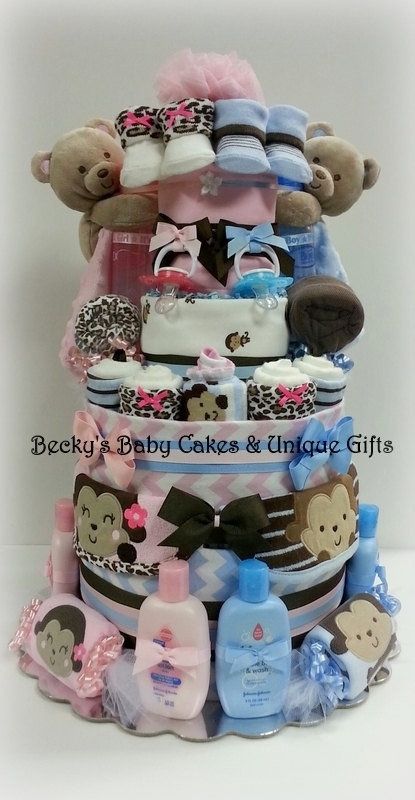 Best ideas about Twin Baby Shower Gift Ideas . Save or Pin Items similar to Twin Diaper Cake Boy & Girl Twin Baby Now.