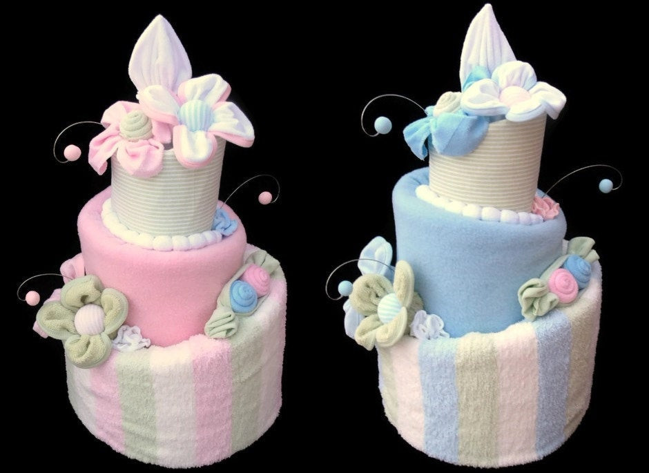 Best ideas about Twin Baby Shower Gift Ideas . Save or Pin Twin Baby Shower Diaper Cakes Boy and Girl Two by Now.