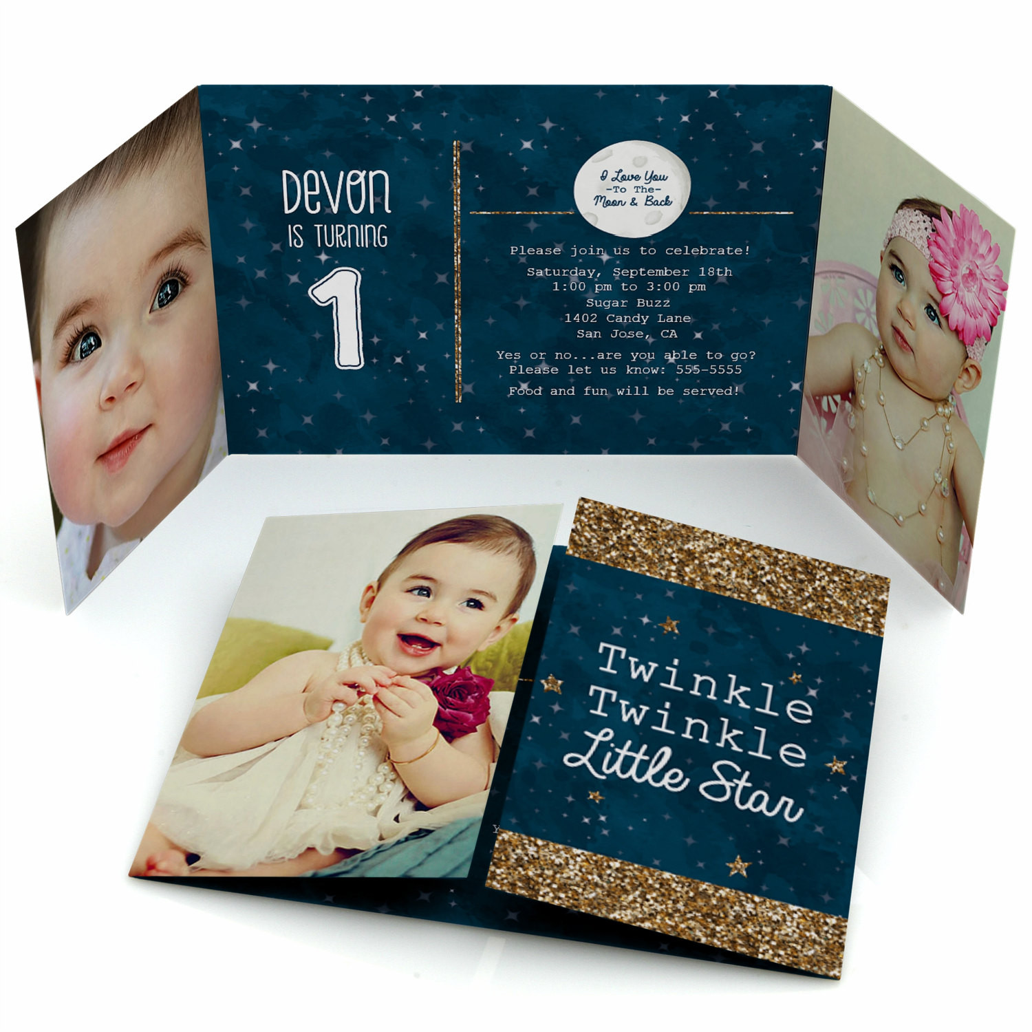 Best ideas about Twinkle Twinkle Little Star 1st Birthday Invitations . Save or Pin Twinkle Twinkle Little Star 1st Birthday Party Invitation Now.