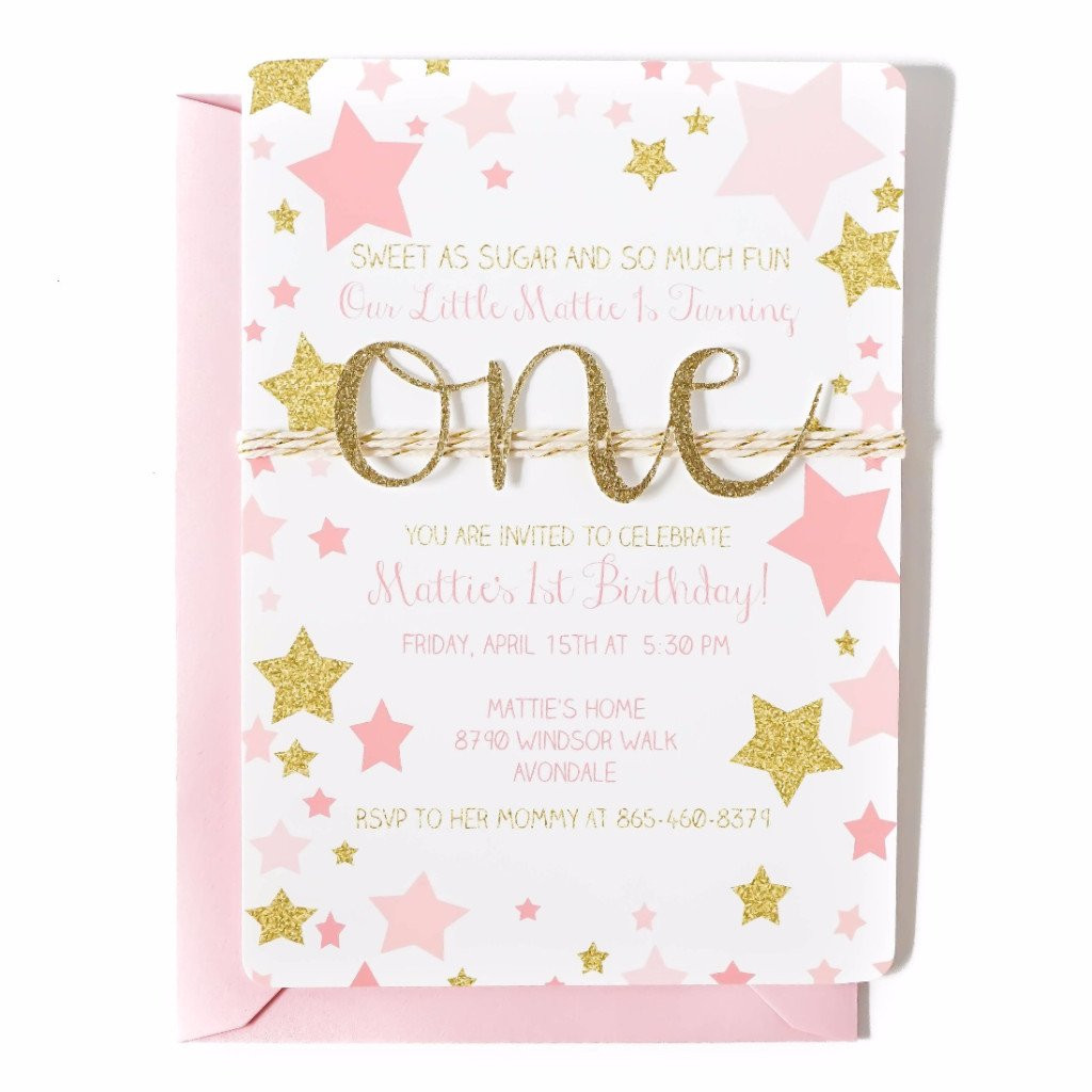 Best ideas about Twinkle Twinkle Little Star 1st Birthday Invitations . Save or Pin First Birthday Invitation Now.