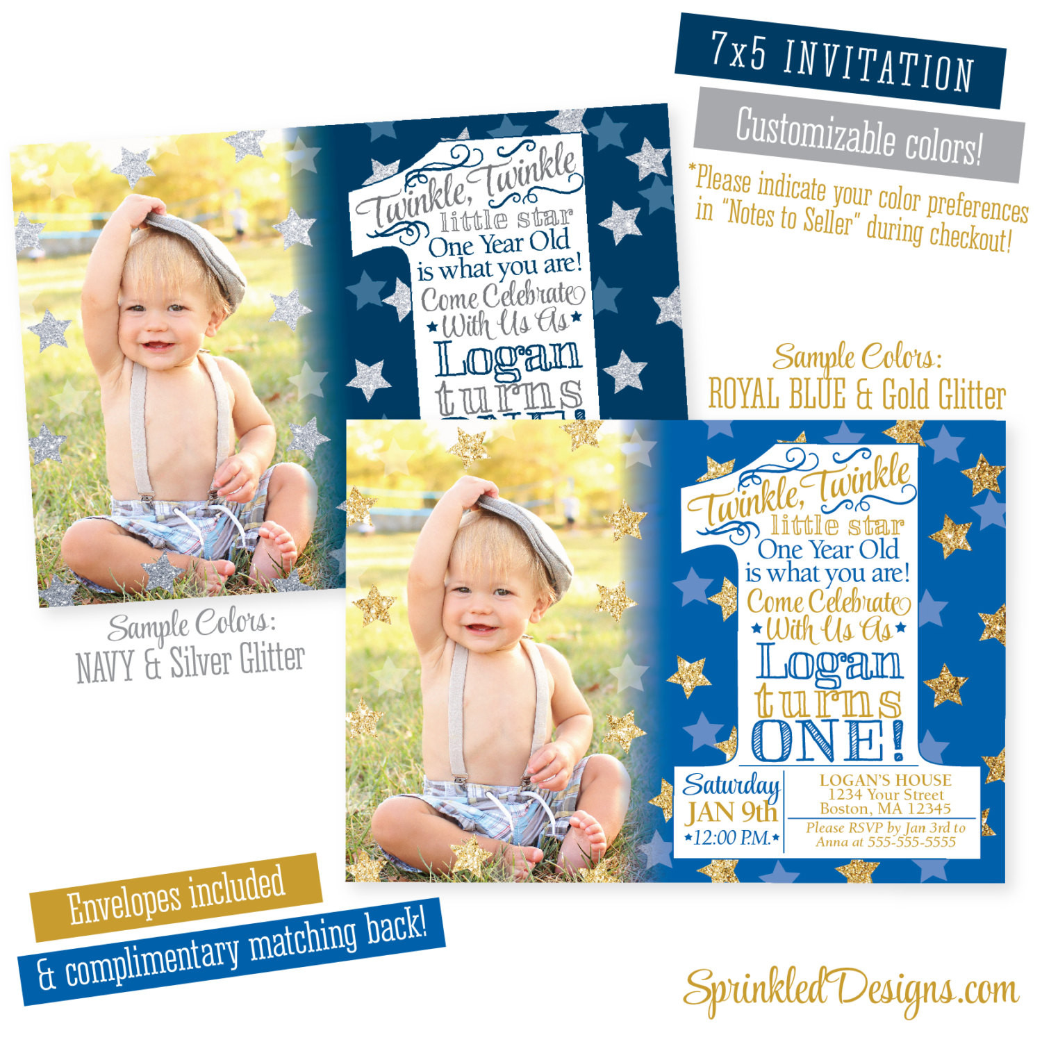 Best ideas about Twinkle Twinkle Little Star 1st Birthday Invitations . Save or Pin Twinkle Twinkle Little Star Invitation First Birthday Boy Now.