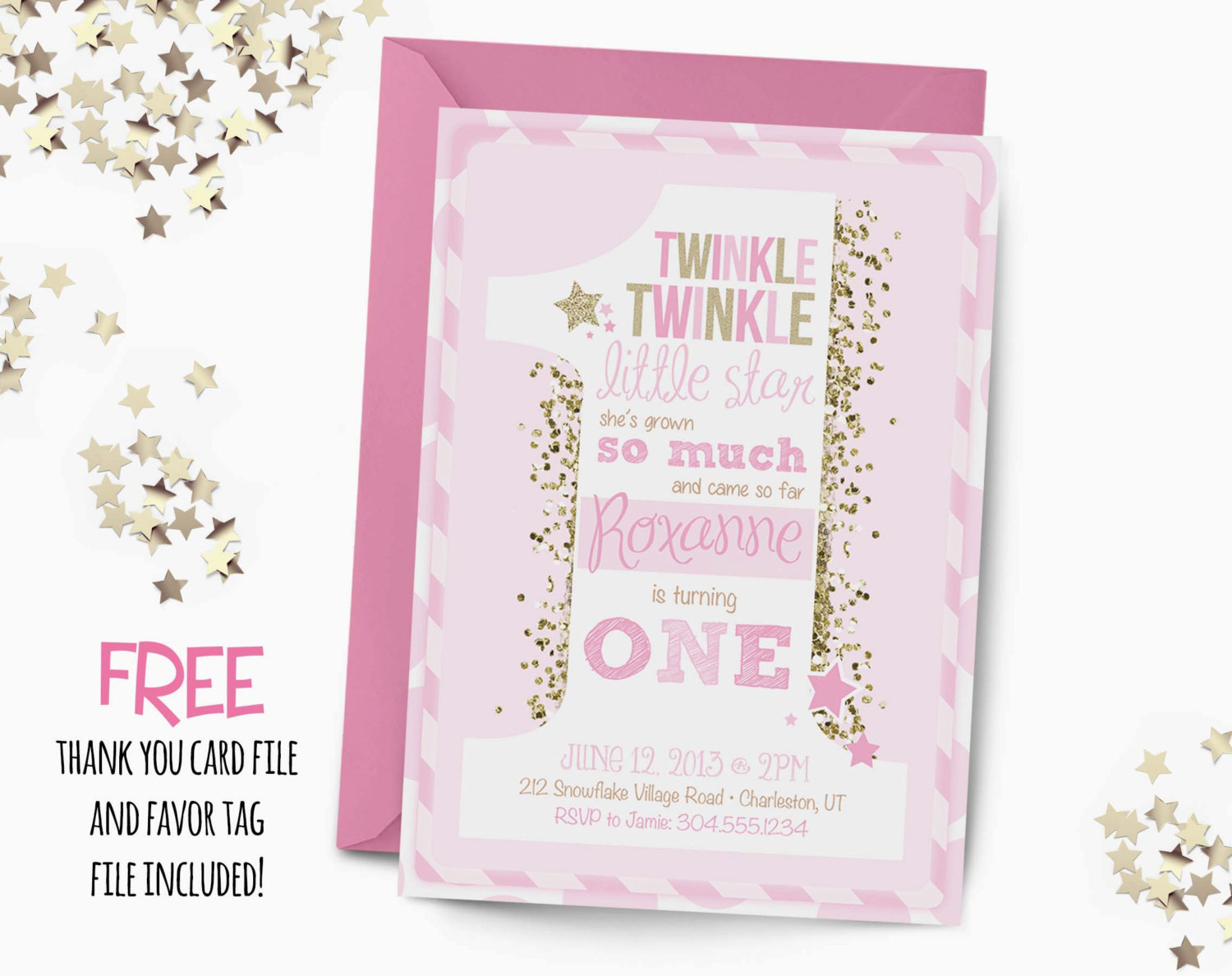 Best ideas about Twinkle Twinkle Little Star 1st Birthday Invitations . Save or Pin Twinkle little star Birthday Invitation first by Now.