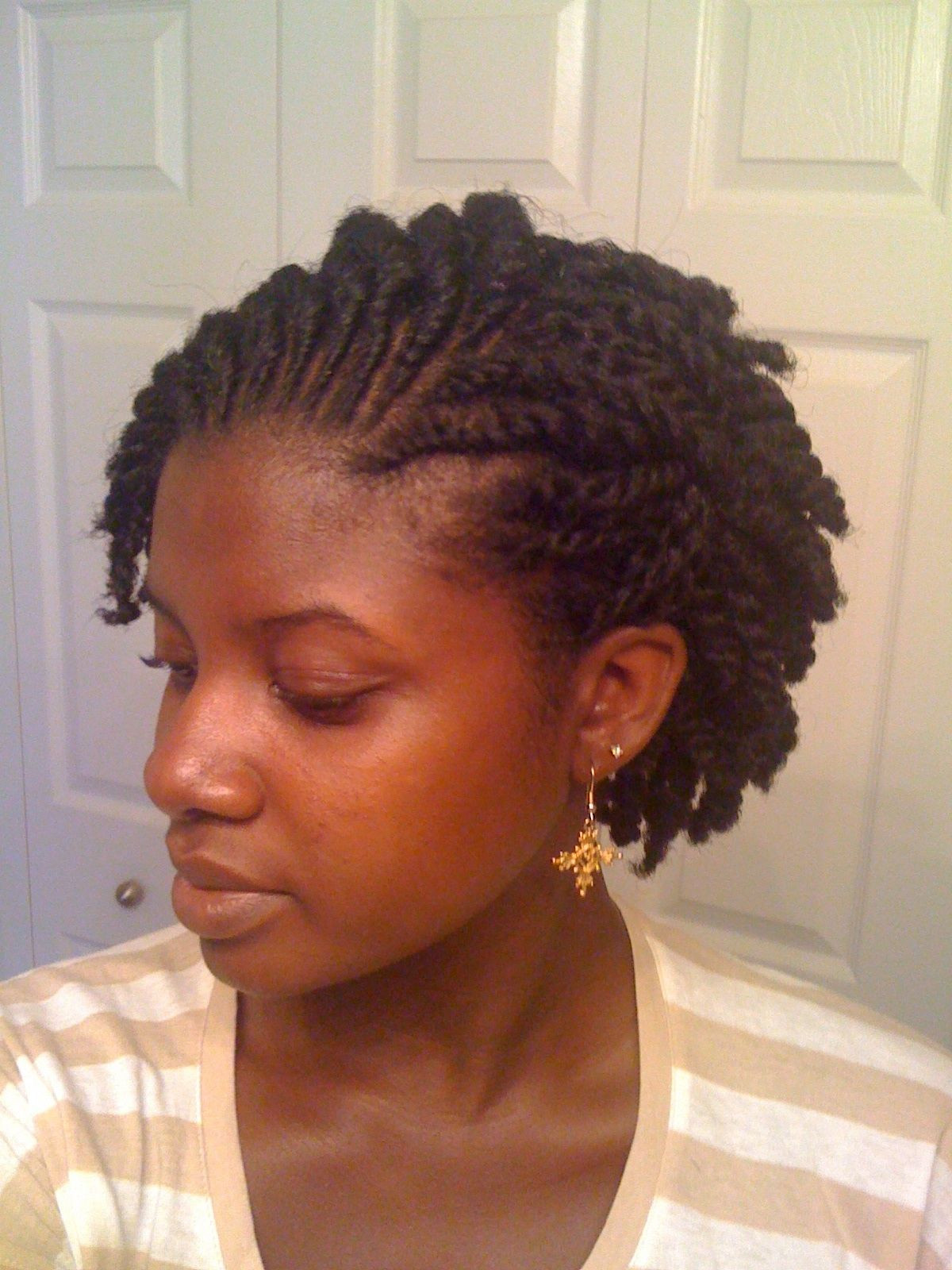 Best ideas about Twist Hairstyle For Natural Hair . Save or Pin Instagram naturallybrandyysmith Natural hair flat twist Now.