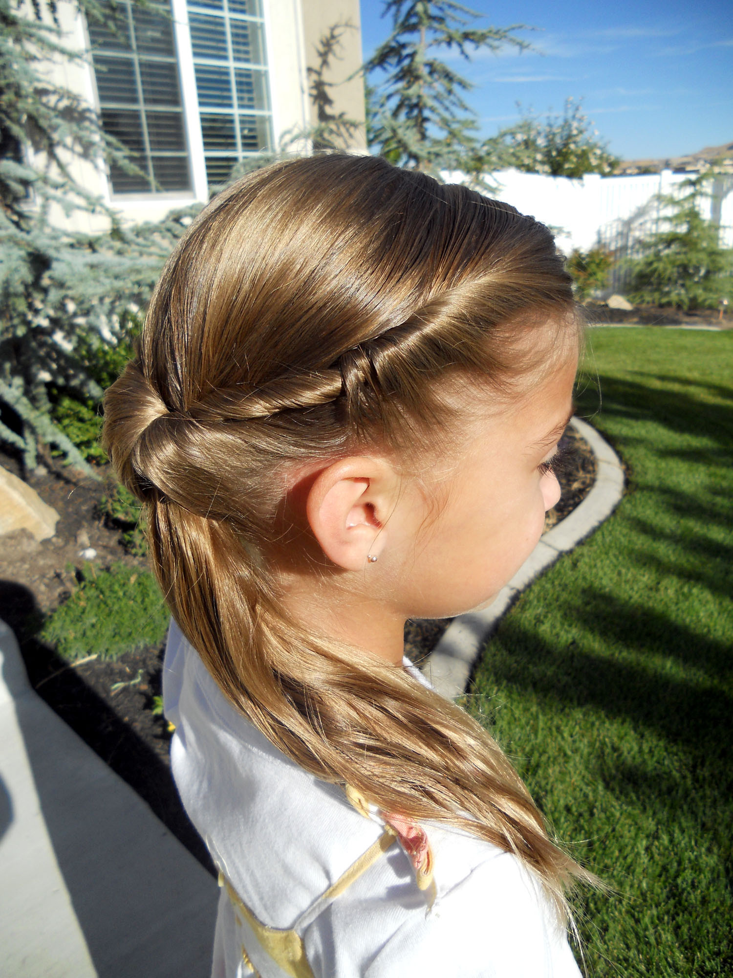 Best ideas about Twisty Hairstyles For Girls . Save or Pin Cute Twistback Flip Under Girls Hairstyles Now.