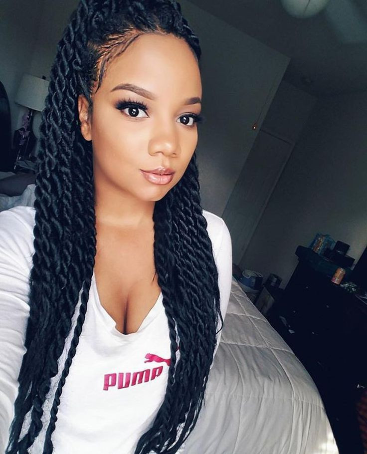 Best ideas about Twisty Hairstyles For Girls . Save or Pin Image result for senegalese twist medium length Now.