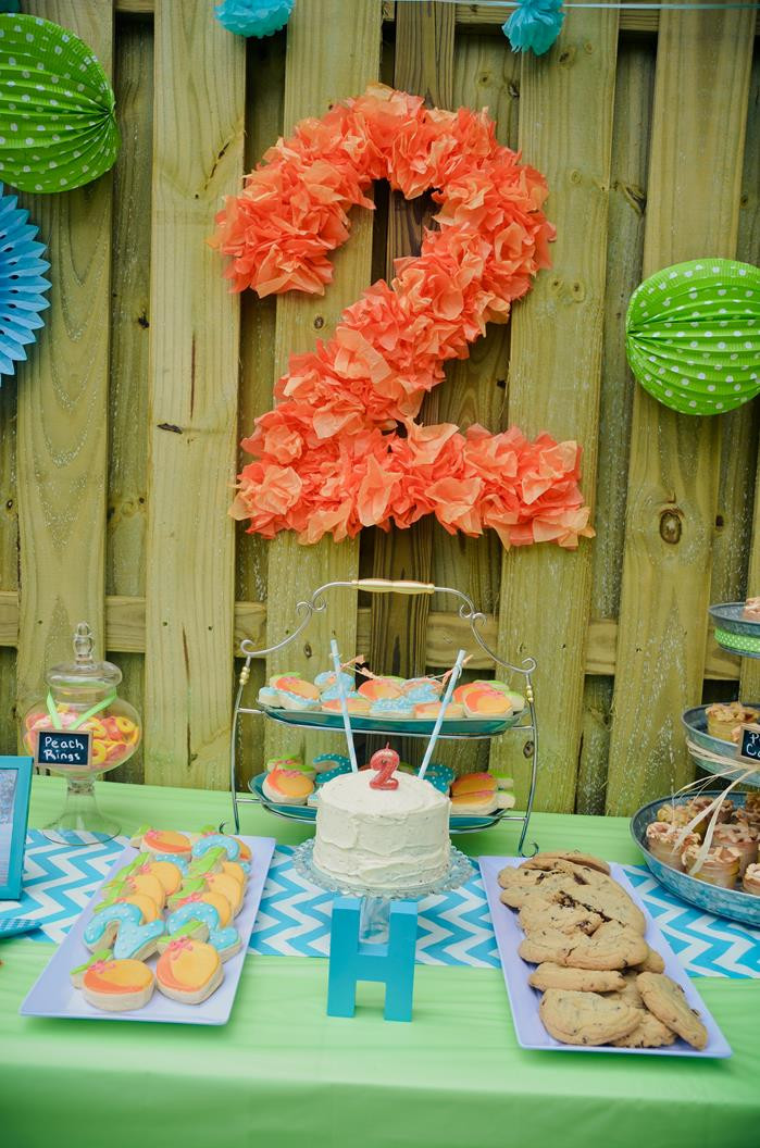 Best ideas about Two Yr Old Birthday Party Ideas . Save or Pin Kara s Party Ideas Peach Stand Party Planning Ideas Now.