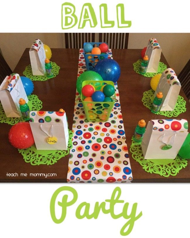 Best ideas about Two Yr Old Birthday Party Ideas . Save or Pin Ball Themed Party for a 2 Year Old Pinterest Now.