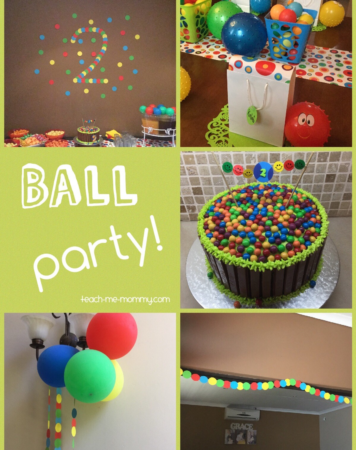 Best ideas about Two Yr Old Birthday Party Ideas . Save or Pin Ball Themed Party for a 2 Year Old Teach Me Mommy Now.