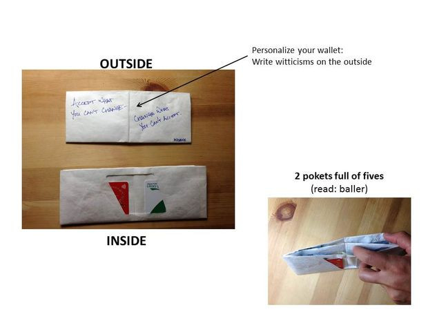 "Best ideas about Tyvek Wallet DIY . Save or Pin DIY Tyvek Wallet using 9x12"" envelope Now."