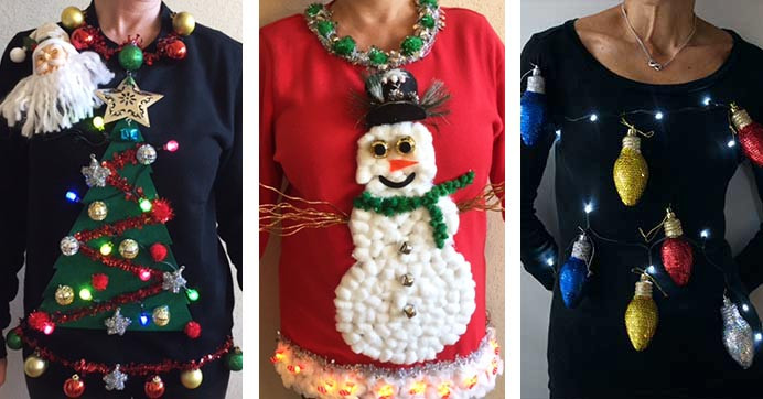 Best ideas about Ugly Christmas Sweater Ideas DIY . Save or Pin It s Ugly Christmas Sweater Time 3 Tree Mendously Tacky Now.