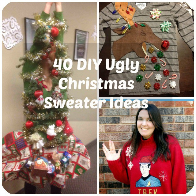 Best ideas about Ugly Christmas Sweater Ideas DIY . Save or Pin 53 DIY Ugly Christmas Sweater Ideas Now.
