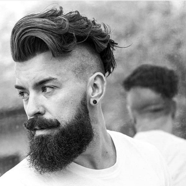 Best ideas about Undercut Hairstyle With Beard . Save or Pin Undercut With Beard Haircut For Men 40 Manly Hairstyles Now.