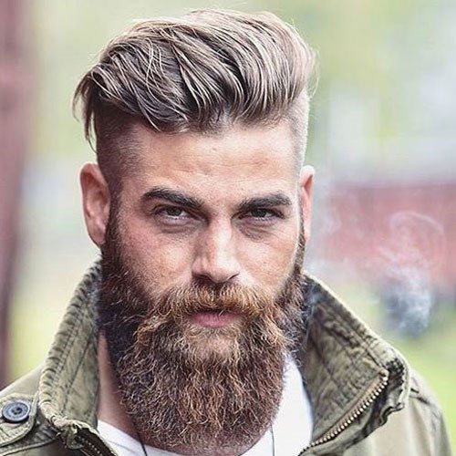 Best ideas about Undercut Hairstyle With Beard . Save or Pin 25 Cool Beards and Hairstyles For Men 2019 Now.