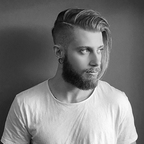 Best ideas about Undercut Hairstyles . Save or Pin Undercut With Beard Haircut For Men 40 Manly Hairstyles Now.