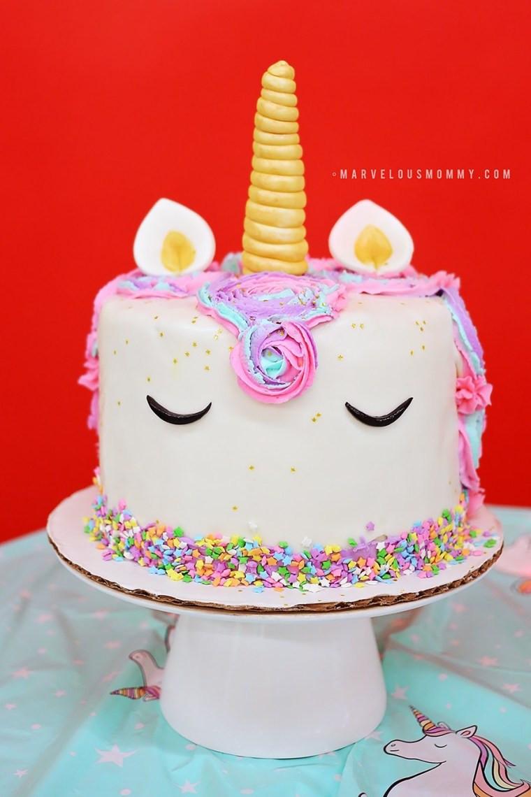 Best ideas about Unicorn Birthday Cake . Save or Pin DIY Rainbow Unicorn Cake – Haley's 6th Birthday Party Now.