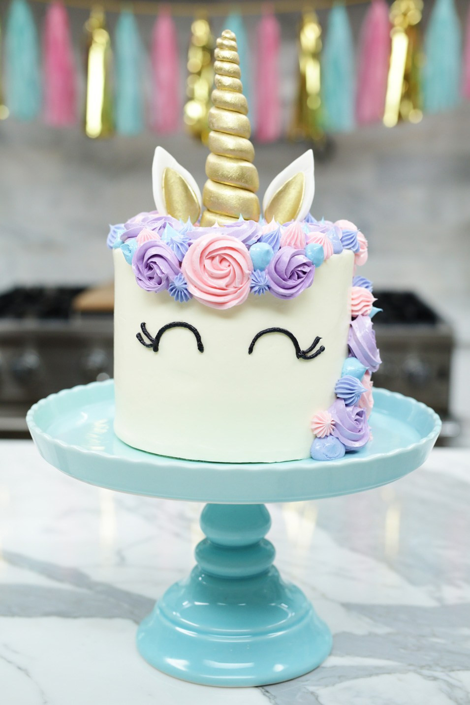 Best ideas about Unicorn Birthday Cake . Save or Pin How to make a Unicorn Cake Rosanna Pansino Now.