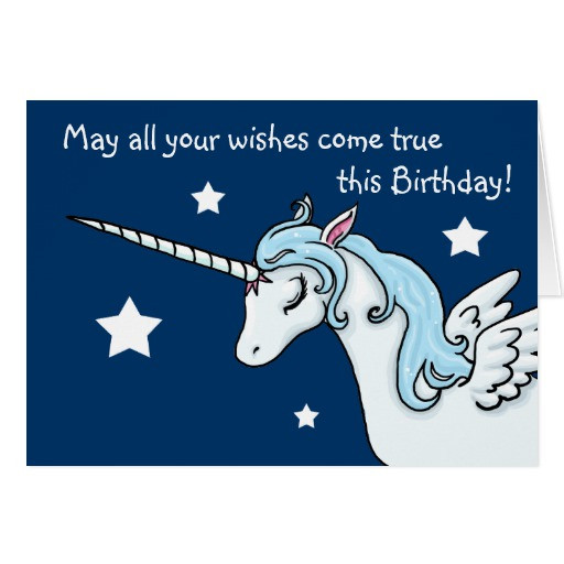Best ideas about Unicorn Birthday Wishes . Save or Pin Pegasus Unicorn Wishes Birthday Card Now.