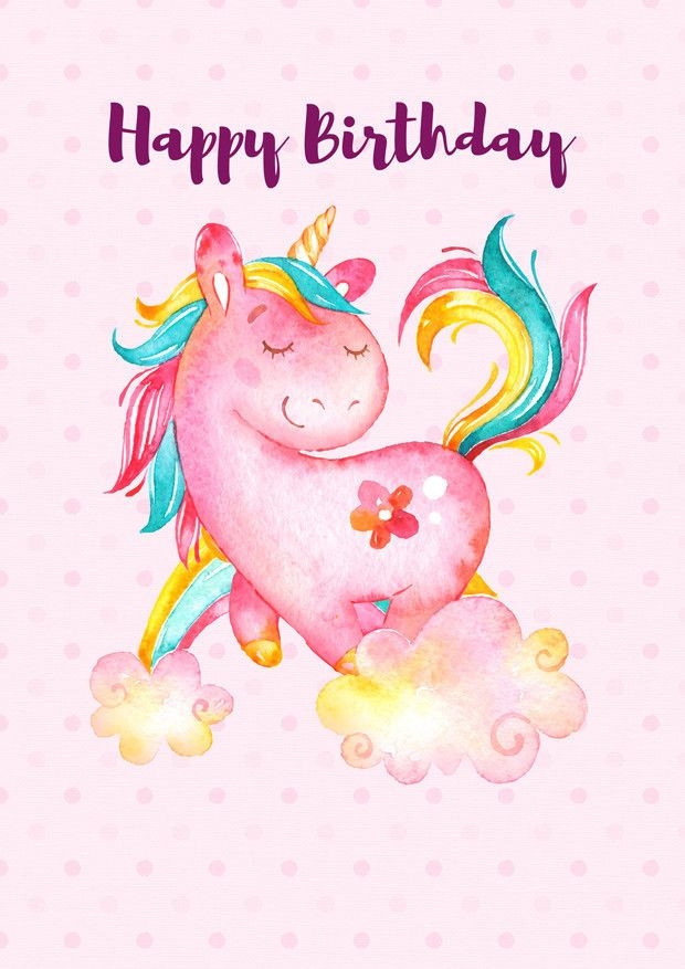 Best ideas about Unicorn Birthday Wishes . Save or Pin Unicorn Happy Birthday Poster SPORG Stores Now.