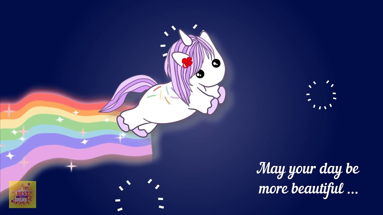 Best ideas about Unicorn Birthday Wishes . Save or Pin Happy Birthday Unicorn Ecard Funny Birthday Wishes Now.
