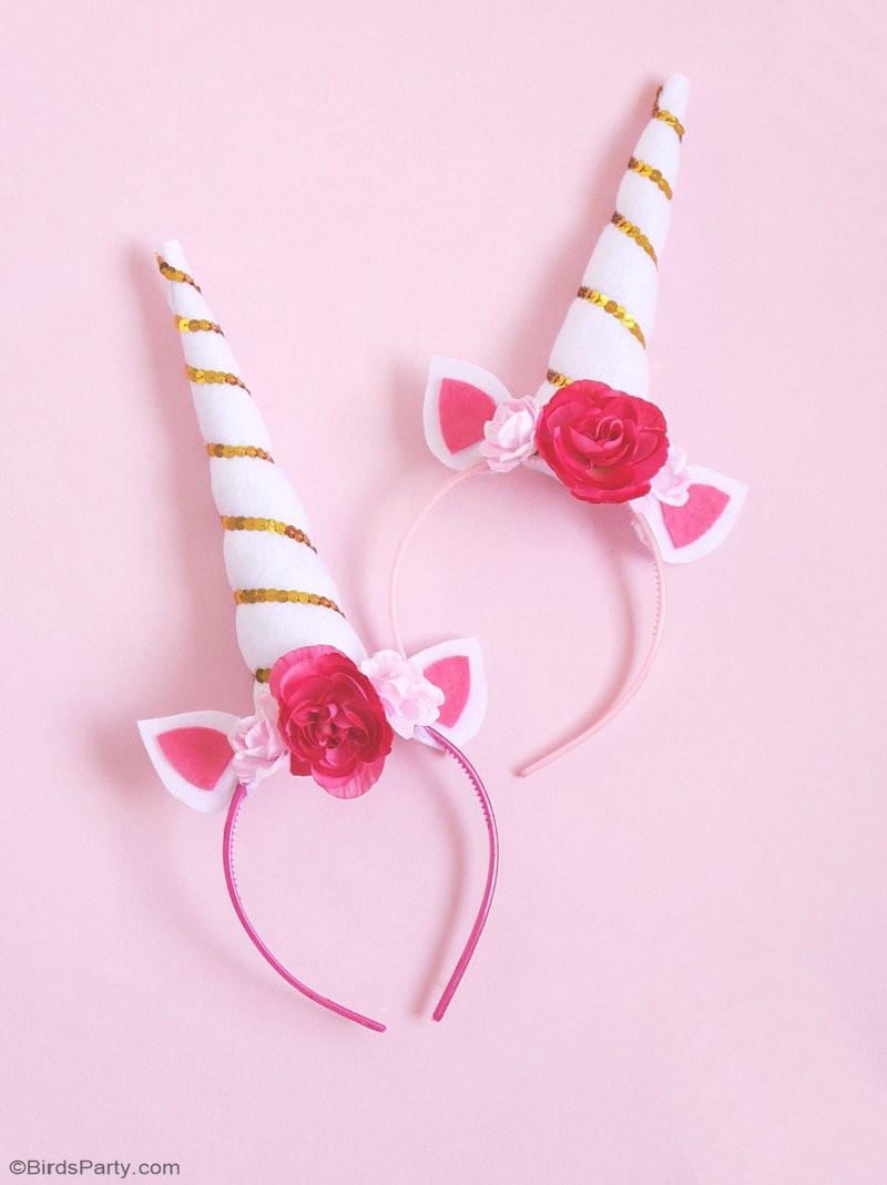 Best ideas about Unicorn Headband DIY . Save or Pin DIY Unicorn Party Headbands Party Ideas Now.