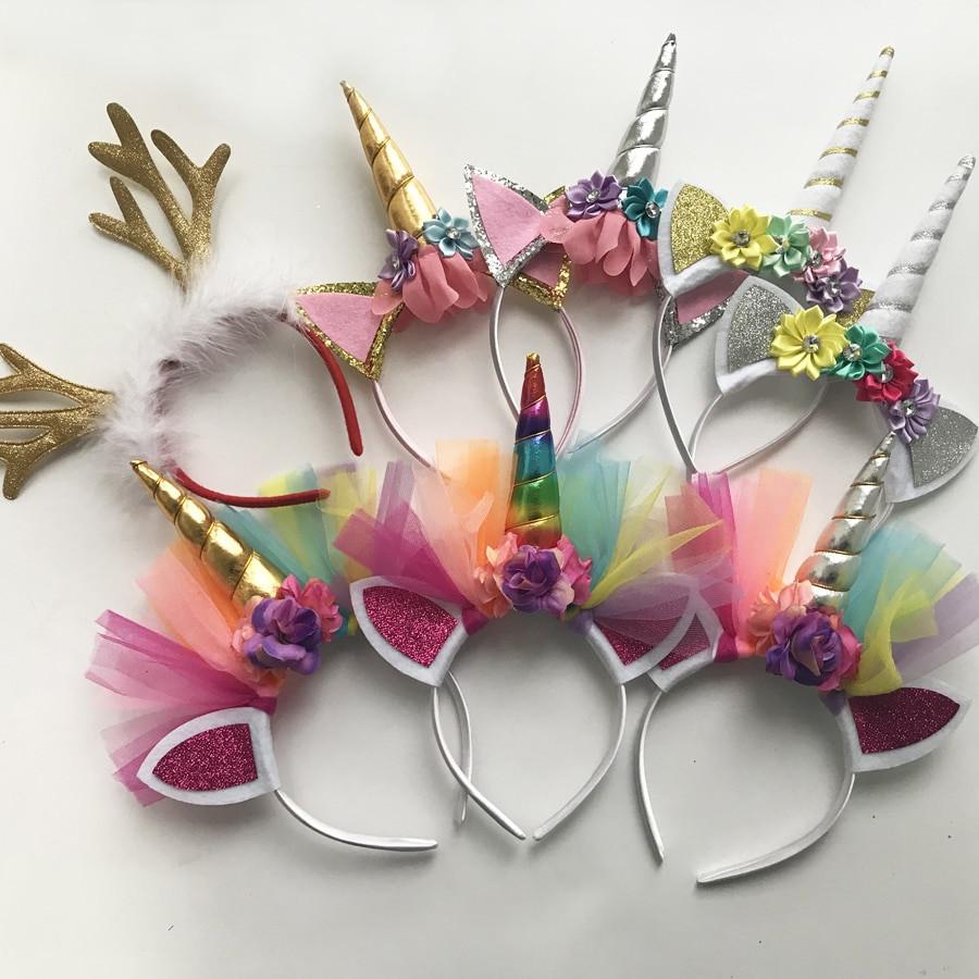 Best ideas about Unicorn Headband DIY . Save or Pin 5 Pcs Glitter Unicorn Headband Girls Kids 2017 DIY Felt Now.