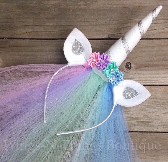 Best ideas about Unicorn Headband DIY . Save or Pin UNICORN PRINCESS PONY Celestia Horn Headband w tulle veil Now.