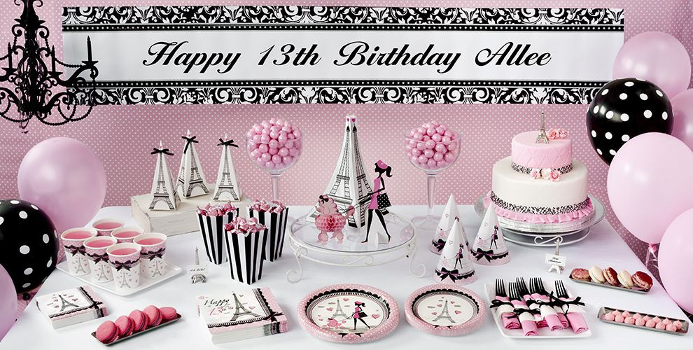 Best ideas about Unique 13th Birthday Party Themes . Save or Pin Pink Paris 13th Birthday Party Supplies Party City Now.